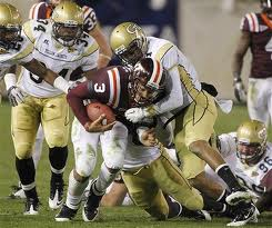 ACC Football - Virginia Tech QB Logan Thomas