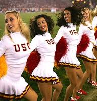 Betting on College Football - USC Cheerleaders