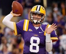 2012 college football win totals - LSU QB Zach Mettenberger