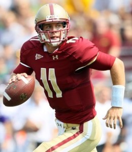 2012 college football win totals - BC QB Chase Rettig
