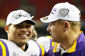 Tyrann Mathieu and LSU HC Les Miles
